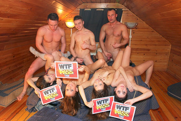 Dare to take part in a real college orgy