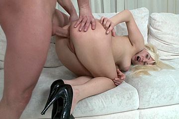 Great Anal Sex Movie with Blonde Bombshell